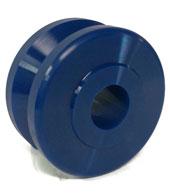 V-Groove Solid Polyurethane