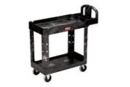 Rubbermaid 4500-88 HD 2-Shelf Utility Cart w/Lipped Shelf (Small)